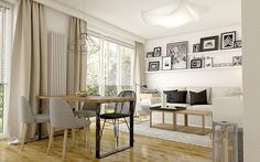 Mieszkanie w Lublinie - salon styl skandynawski