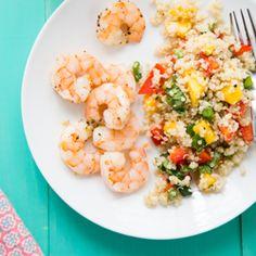 Tropical Quinoa   Roasted Shrimp HealthyAperture.com