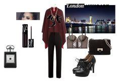 """London after dark"" by tsuyoki on Polyvore featuring Aspinal of London, Jo Malone, NARS Cosmetics, Burberry, Betsey Johnson, Victoria's Secret, Haider Ackermann, NightOut, Dark and Sexy"