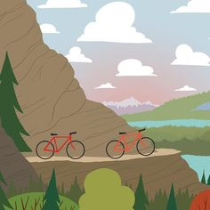 We're Going Biking - Sunset - to reach the end of the trail and see the mountain vista is what makes the ride worth it. Leaving the city into the mountains for a biking adventure. Biking road trip wall art #Bikingroadtrips #weregoingbiking #letsgobikingnow #letsgobikingtoday #Iwishiwasbiking #bikingaddiction #bikingadventure #Bikinglifeforme #Bikingart #bikingartwork