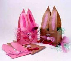 paper bag bunnies