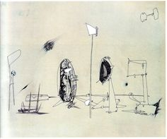 Trying to See the Invisible, It's Just Misunderstanding.: Provisional Data of Yves Tanguy's Drawing Works Date Unknown Matisse, Yves Tanguy, Catalogue Raisonne, Peggy Guggenheim, Dance Art, Various Artists, Painting & Drawing, 1950s, It Works