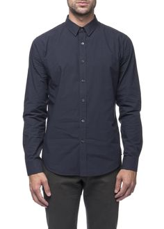 Theory - Menswear - FW16 // Navy Zack shirt in cotton