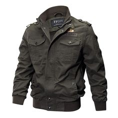 Spring Autumn Outdoor Tactical Washed Cotton Plus Size XS-4XL Epualet Military Jackets for Men