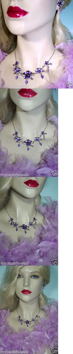 Other Wholesale Necklaces 56148: Wholesale Lot Bridesmaid Prom Jewelry Necklace Earring Set Purple Rhinestone 15X -> BUY IT NOW ONLY: $35 on eBay!