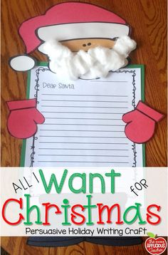 Santa persuasive letter and craft new teachers pinterest santa santa persuasive letter and craft spiritdancerdesigns Gallery