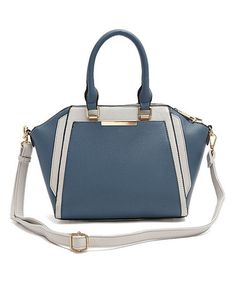 Another great find on #zulily! Blue Steel Two-Tone Satchel #zulilyfinds
