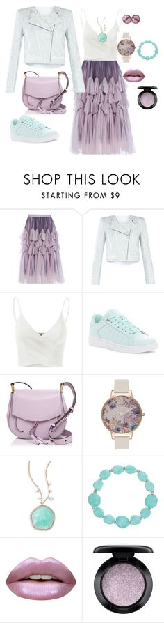 """tulle skirt"" by loveazerbayjani ❤ liked on Polyvore featuring Dries Van Noten, BCBGMAXAZRIA, Doublju, K-Swiss, Marc Jacobs, Olivia Burton, Meira T, The Sak, Huda Beauty and MAC Cosmetics"
