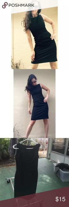 Professional black dress. Very fitted. Cotton non-stretch. H&M Dresses
