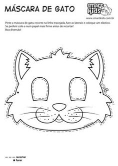 O uso de máscaras é muito comum desde os primeiros . Girl Scout Activities, Animal Activities, Coloring For Kids, Coloring Pages, Printable Animal Masks, Felt Animal Patterns, Felt Mask, Animal Crafts For Kids, Preschool Art