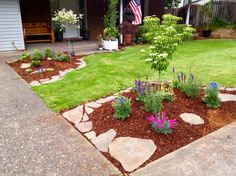 Simple Landscaping Upgrade by creating flower beds.
