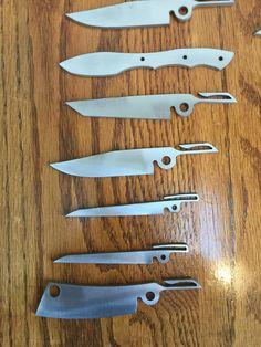 Friction folder blades with integrated pocket clip Reibmappenmesser mit integriertem Taschenclip
