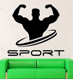 Wall Decal Sport Bodybuilding Gym Muscled Fitness Vinyl Stickers Mural (ig2580)