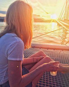 Cocktails and sunsets with the #medsailors #itsahardlife  .  .  . #greece #poros #greekislands #islandlife #islandsailing #girlsborntotravel #travelingtheworld #cl_worldclub #passionpassport #WTNadventures #nextleveldestination #sailing #sunset #sumsetviews #cocktailsandsunsets #mediteranian #ondeck #relaxingondeck ( shared by @amycaram )