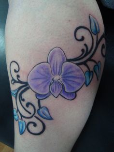 Orchid Flower Tattoo Tribal Orchid Tattoo Best Quality Tattoo ...