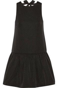 Tibi Katia cotton and silk-blend faille mini dress | NET-A-PORTER