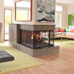 love how the fireplace is in multiple rooms