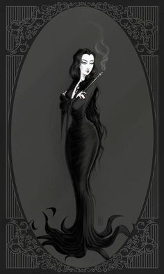 Hmm could this be Morticia from the Addams Family?