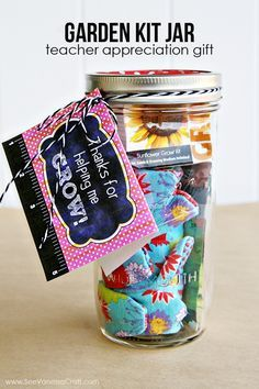 Teacher Appreciation Garden Kit Jar