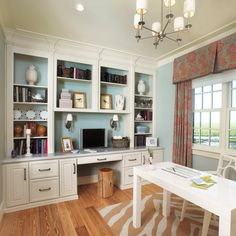 fieldstone cabinetry in coastal living magazine home office built ins - Built In Home Office Designs