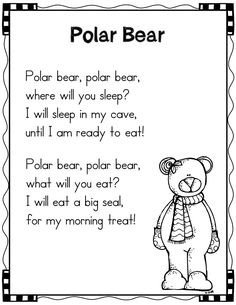 Winter Poems for Shared Reading-Polar Bears
