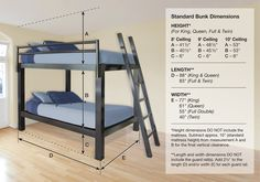 Bunk Bed (King, Queen, Full, and Twin)