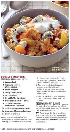 Weight Watchers Buffalo Chicken Chili