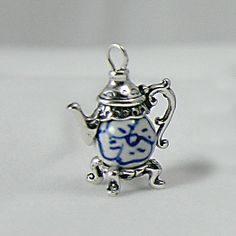Tiny Chinese Porcelain Bead Teapot (8mm)