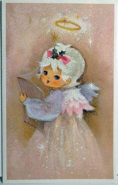 vintage christmas greeting card charlot byj by crestwick. Black Bedroom Furniture Sets. Home Design Ideas