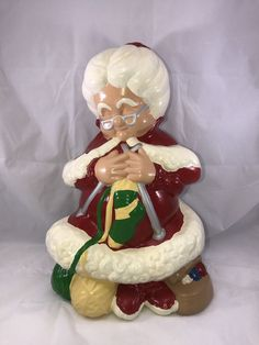 Vintage Sleeping Mrs Claus Ceramic Christmas Figurine Collectible Gift   | eBay