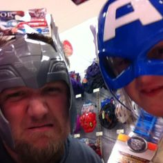 """Thor"" and ""Captain America"""
