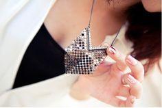 $6.99  Vintage Sexy Rhinestone Mesh Pendant Necklace