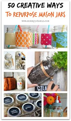 50 Creative Ways To Use Mason Jars #DIY