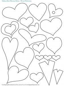 Molde de corazones y flores de fieltro