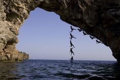 Chris Sharma - Mallorca, Spain  This guy is the god of climbing!  He climbs the impossible...