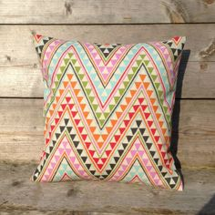 Zigzag pillow cover – Throw pillow cover – Zigzag Cushion cover - 16x16 18x18 20x20 24x24 26x26 inch – on Etsy, $15.00