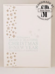 The Crafty Medic: Bright on White - Stampin' Up! Bright & Beautiful stamp set and Confetti Stars punch