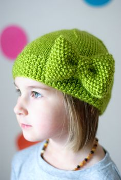 The Älskling Bow Hat PDF Pattern - pinned by pin4etsy.com