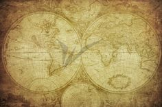 Vintage map of the world. Retro map of the world , Antique World Map, Old World Maps, Map Wrapping Paper, World Map Canvas, Map Wallpaper, Vintage Maps, Tree Designs, Framed Artwork, Art Prints