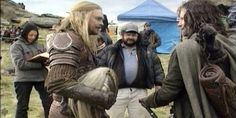 Lord of the Rings - Karl Urban and Viggo Mortensen, on set with Peter Jackson