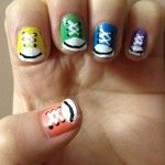 cool nail designs! Tiny little shoes! Cute :)