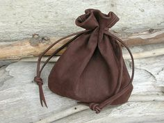 medieval leather drawstring pouch - Google Search