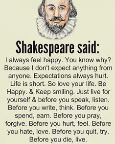 Shakespeare said: