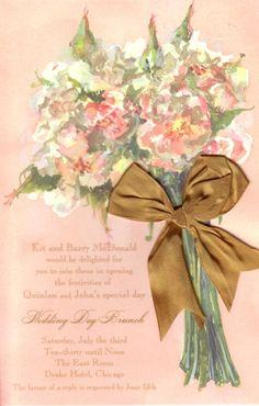 Blush Bouquet Bridal Invitation