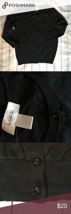 LOFT Black Cardigan! LOFT 3/4 sleeves black Cardigan, new without tags.💞 LOFT Sweaters Cardigans