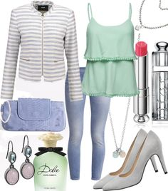 Baby Blue #fashion #style #look #dress #mode #outfit