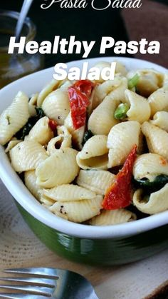 Healthy Pasta Salad, Healthy Pastas, Healthy Salad Recipes, Pasta Recipes, Vegetarian Recipes, Dinner Recipes, Cooking Recipes, Best Healthy Diet, Vegan Parmesan Cheese