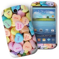 Personalised Love Hearts Samsung Galaxy S3 Phone Skin  from Personalised Gifts Shop - ONLY £7.95