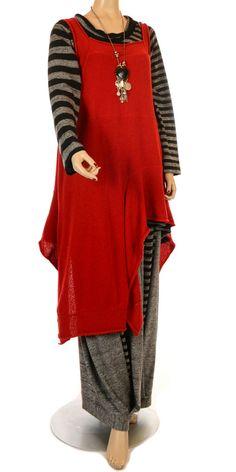 Overlay Tops & Funky Shirts | Lagenlook Women's Plus Size Tops