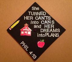 Graduation cap for a teacher